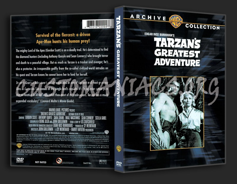 Tarzan's Greatest Adventure (1959) dvd cover