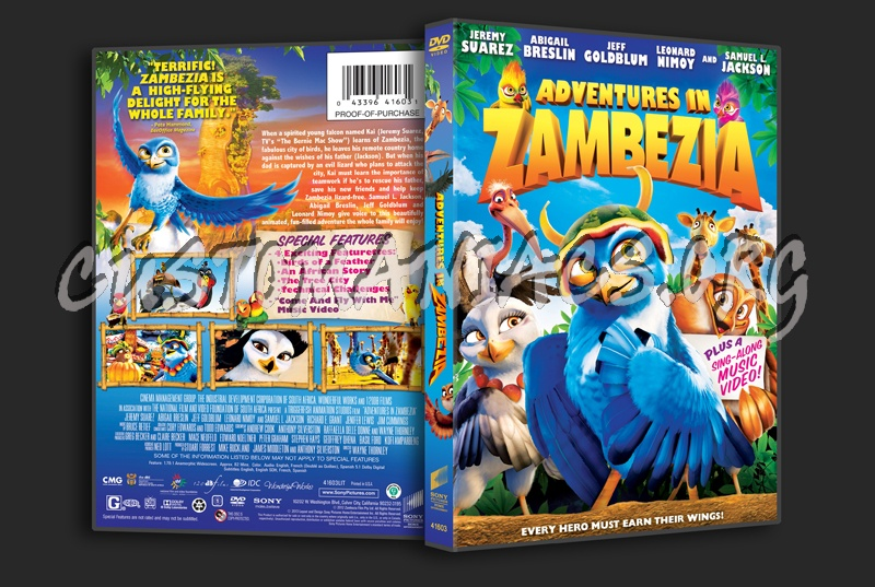Adventures in Zambezia dvd cover