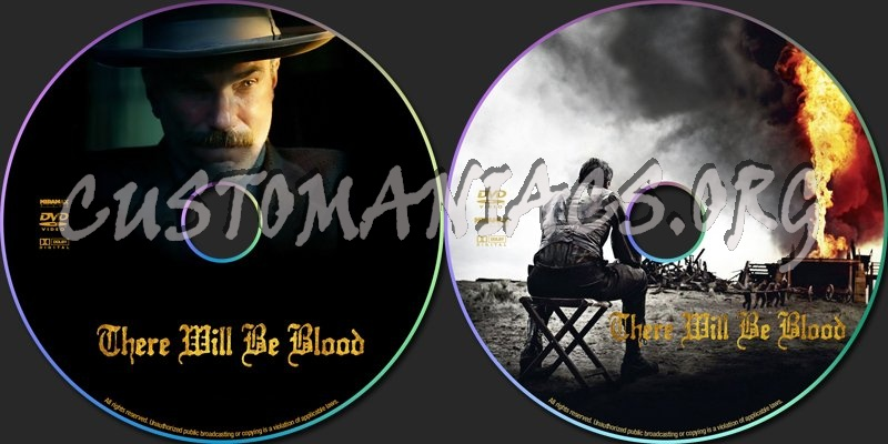 There Will Be Blood dvd label