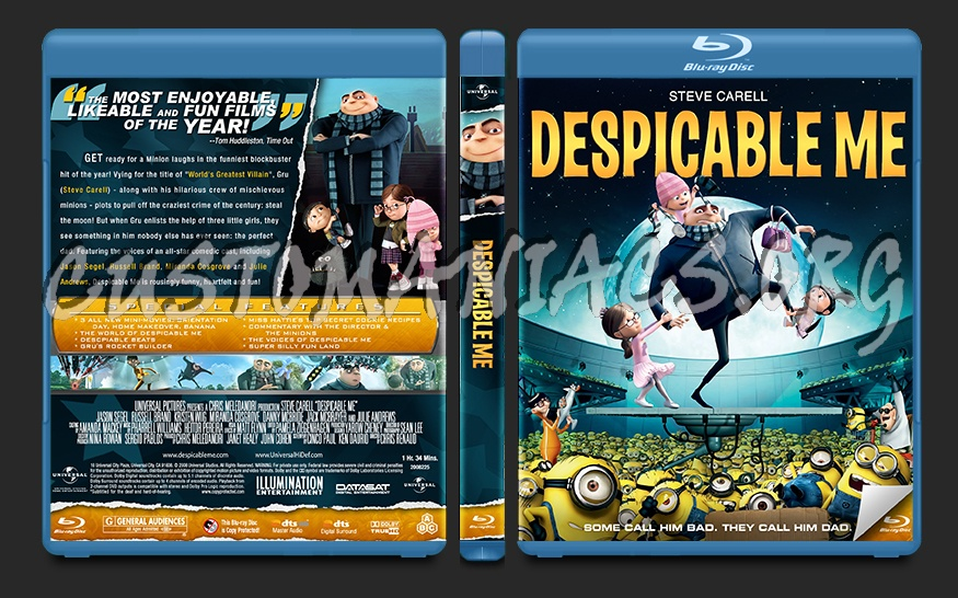 Despicable Me blu-ray cover