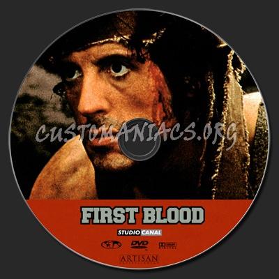 Rambo First Blood dvd label