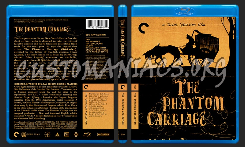 579 - The Phantom Carriage blu-ray cover
