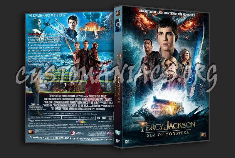Percy Jackson Sea Of Monsters dvd cover