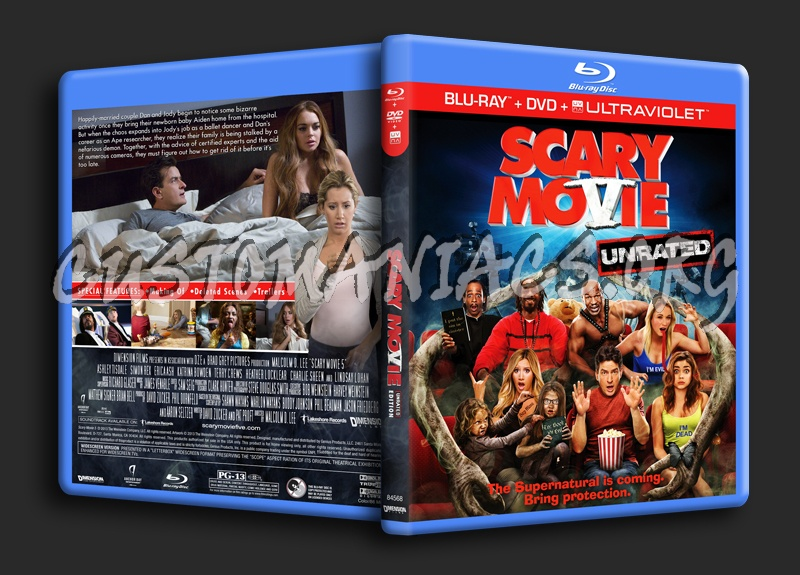 Scary Movie 5 Blu Ray Cover Dvd Covers Labels By Customaniacs Id 196295 Free Download Highres Blu Ray Cover