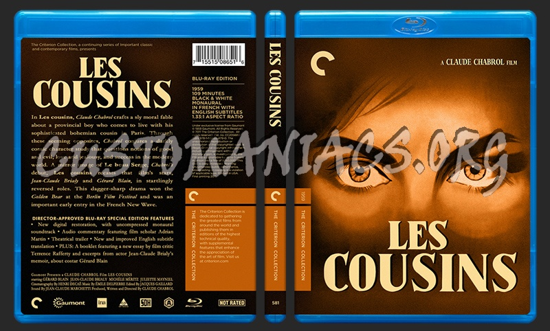 581 - Les Cousins blu-ray cover