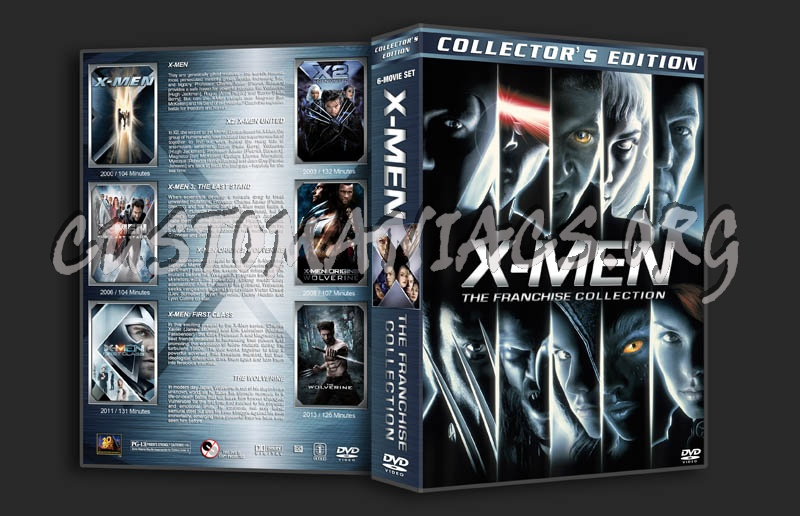 X-Men: The Franchise Collection dvd cover