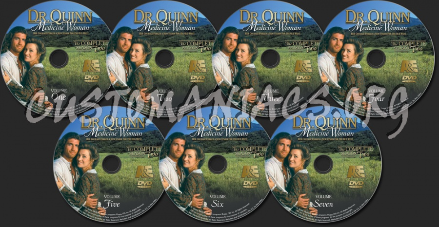 Dr. Quinn Medicine Woman Season 2 dvd label