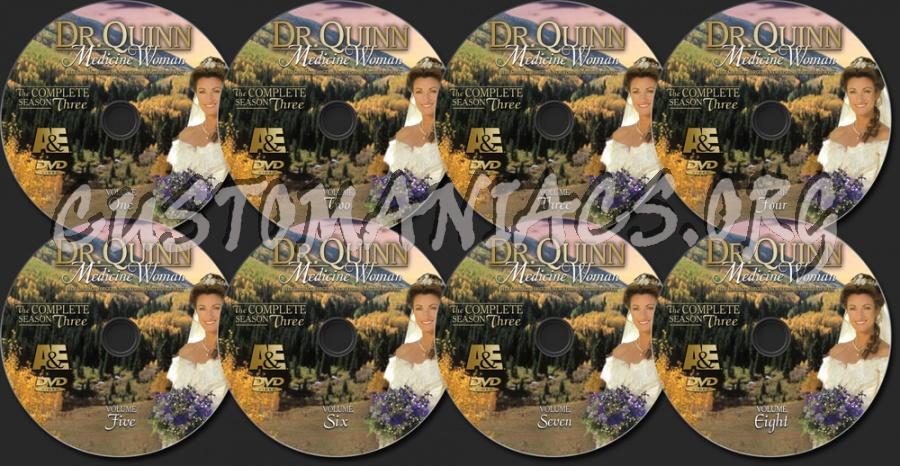 Dr. Quinn Medicine Woman Season 3 dvd label