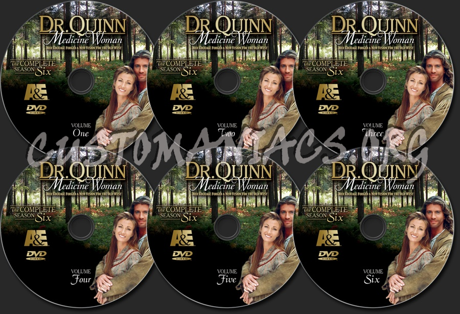 Dr. Quinn Medicine Woman Season 6 dvd label