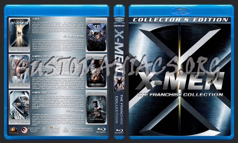 X-Men: The Franchise Collection blu-ray cover