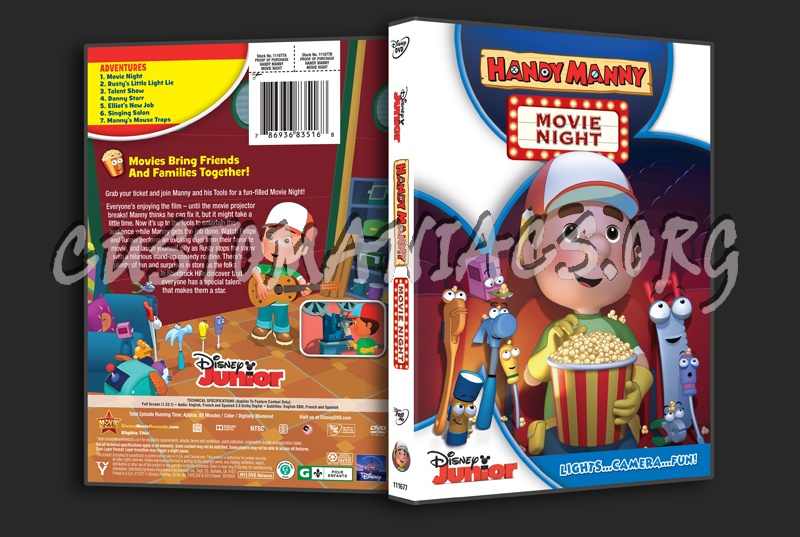 Handy Manny Movie Night dvd cover