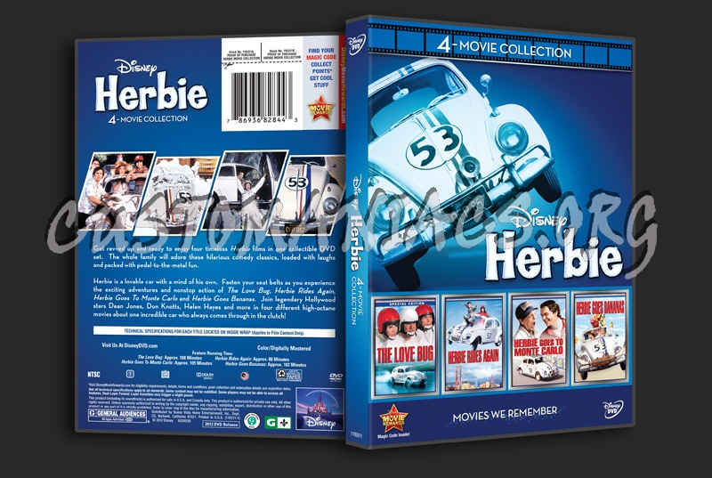 Herbie 4-Movie Collection dvd cover