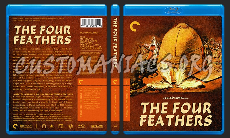 583 - The Four Feathers blu-ray cover