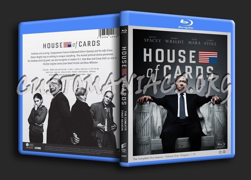 House of Cards Season 1 blu-ray cover
