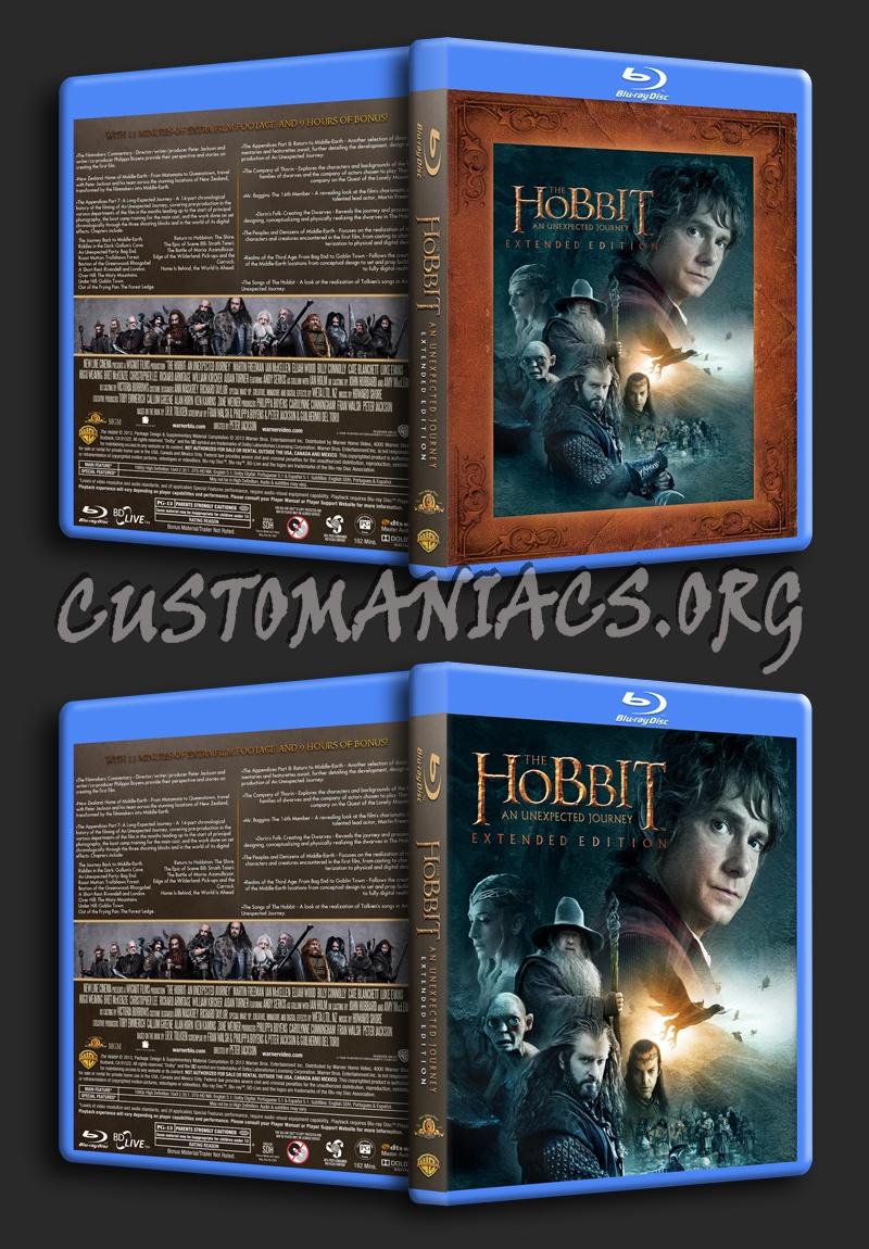 The Hobbit: An Unexpected Journey Extended Edition blu-ray cover