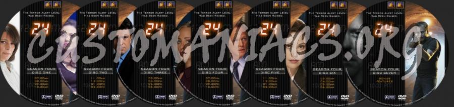 24 Season 4 dvd label