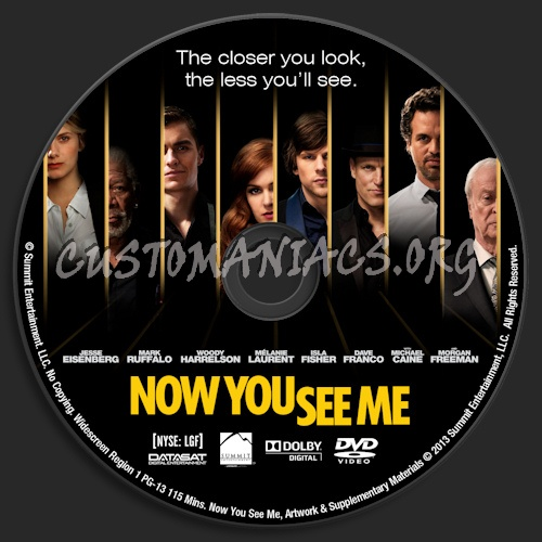 Now You See Me dvd label