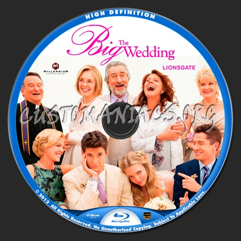 The Big Wedding blu-ray label