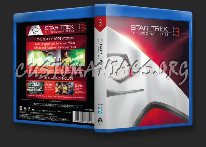 Star Trek The Original Series Season 3 blu-ray cover