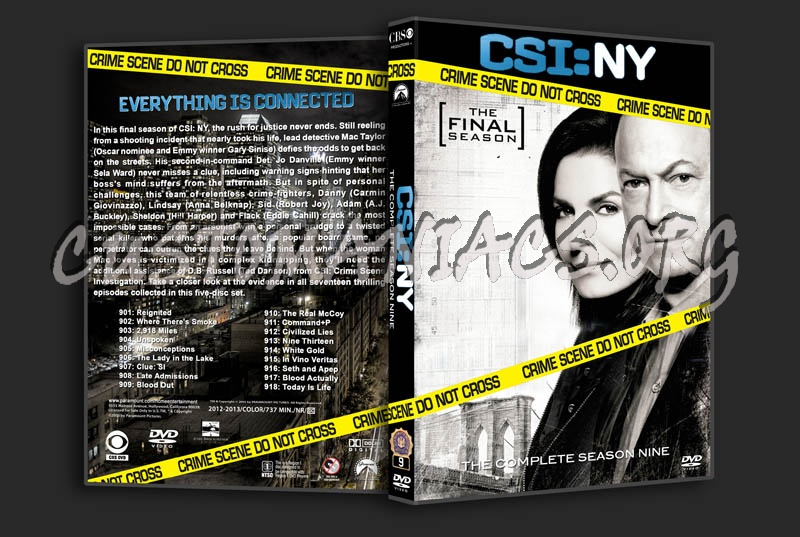 CSI: NY - Season 9 dvd cover