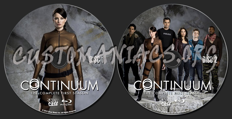 Continuum Season 1 blu-ray label