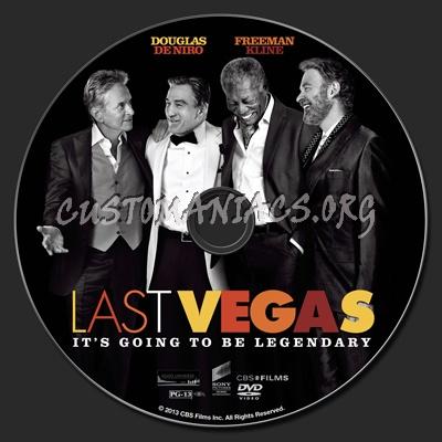 Last Vegas dvd label