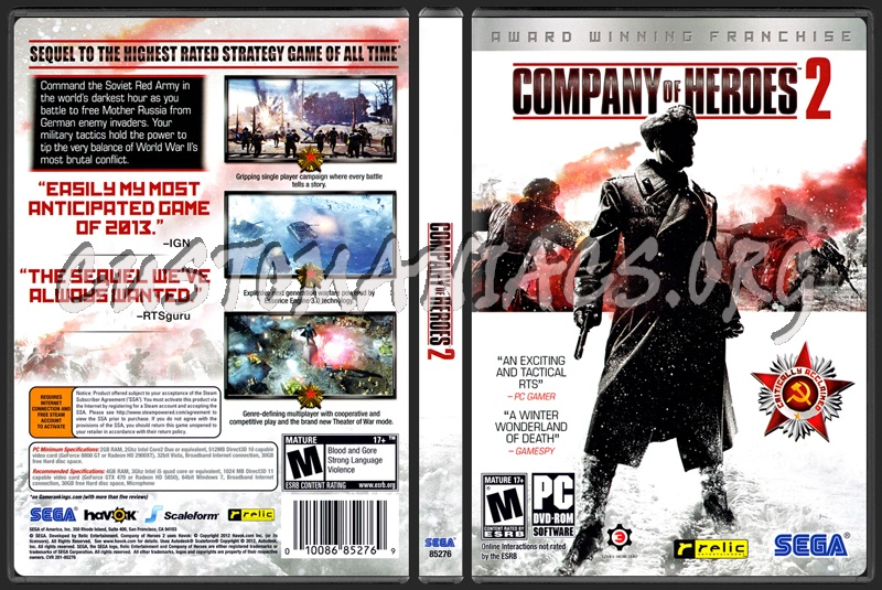 Company Of Heroes 2 Dvd Cover Dvd Covers Labels By Customaniacs Id 197500 Free Download Highres Dvd Cover
