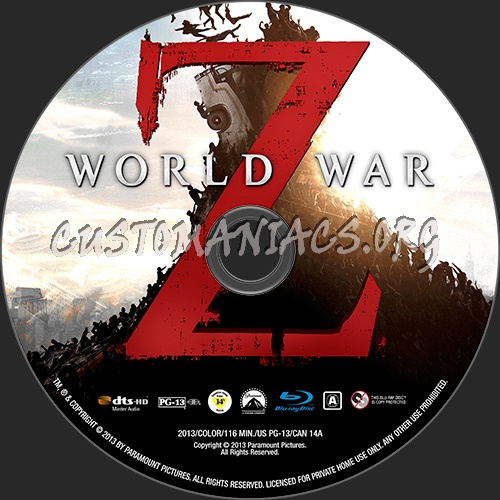 World War z Blu Ray Cover World War z 2d 3d Blu-ray