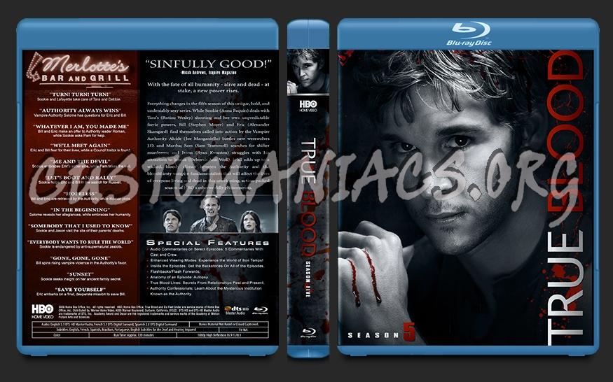 True Blood Season 5 blu-ray cover