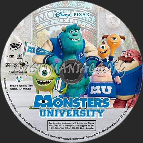 Monsters University dvd label