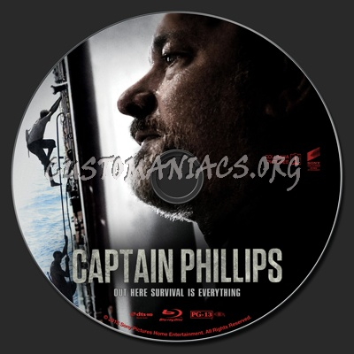 Captain Phillips blu-ray label