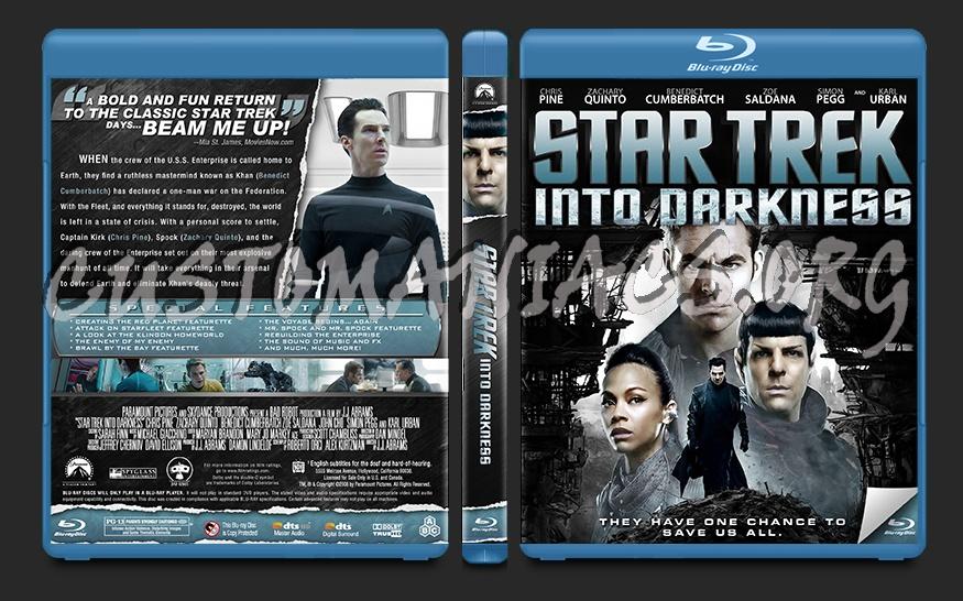 Star Trek Into Darkness blu-ray cover