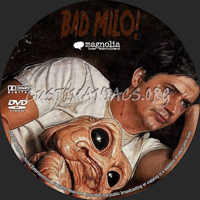 Bad Milo dvd label