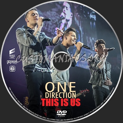 One Direction:This is Us dvd label