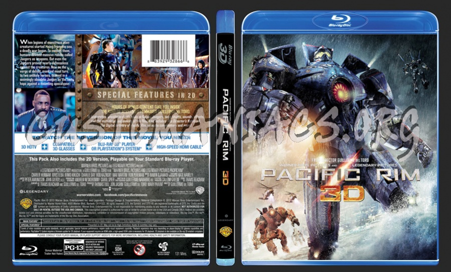 Pacific Rim 3D blu-ray cover - DVD Covers & Labels by ... Pacific Rim Blu Ray Cover