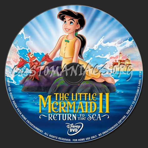 The Little Mermaid 2: Return to the Sea dvd label - DVD ...