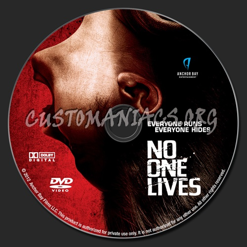 No One Lives dvd label