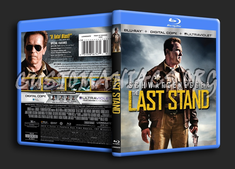 The Last Stand blu-ray cover