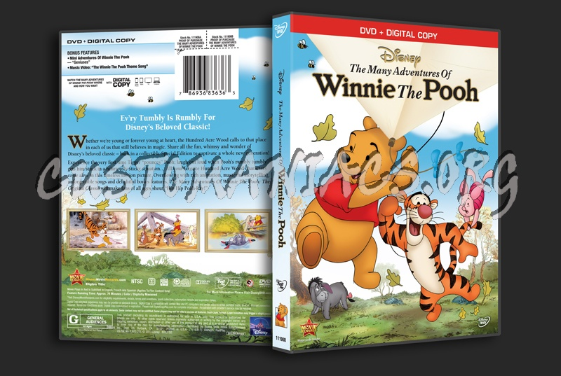 The Many Adventures of Winnie the Pooh dvd cover