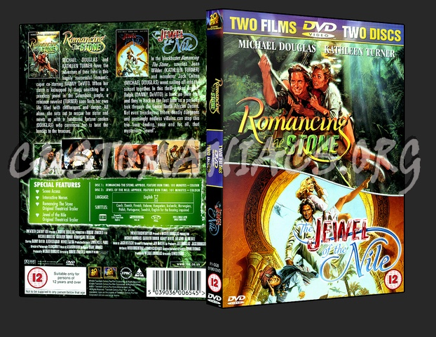 Romancing The Stone & The Jewel Of The Nile dvd cover