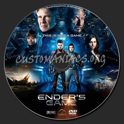 Ender's Game dvd label