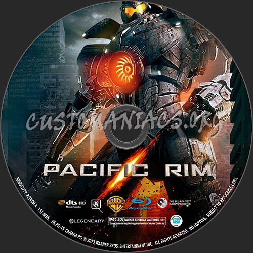 Pacific Rim blu-ray label