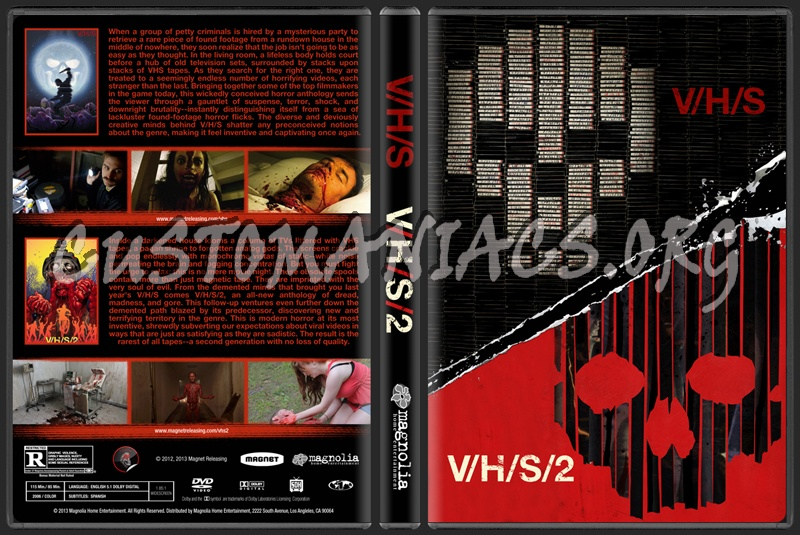 V/H/S V/H/S/2 Double Feature (VHS VHS 2 Collection) dvd cover