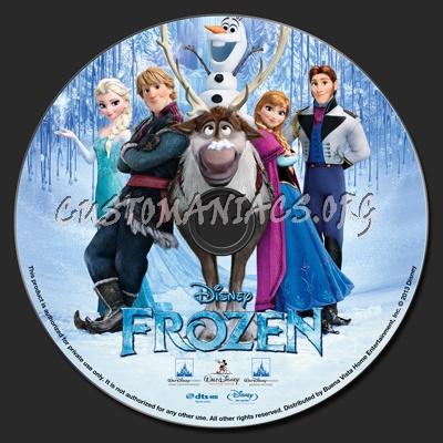 Frozen (2013) blu-ray label