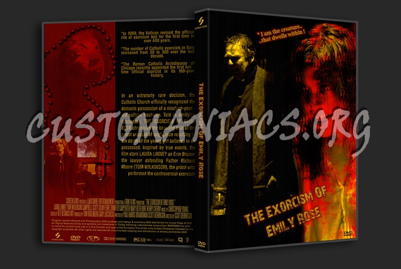 The Exorcism Of Emily Rose dvd cover