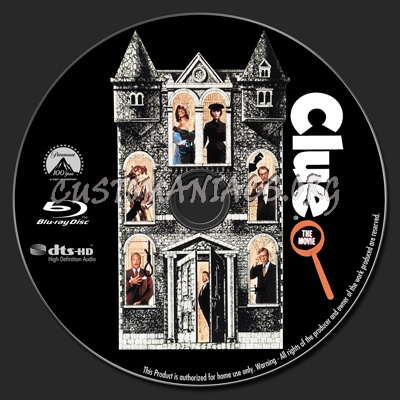 Clue The Movie blu-ray label
