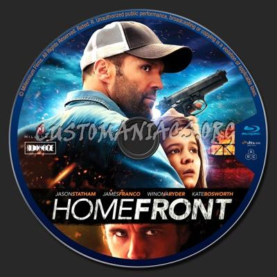 Homefront blu-ray label