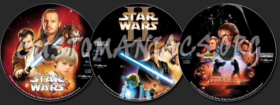 Star Wars Episode I II III blu-ray label