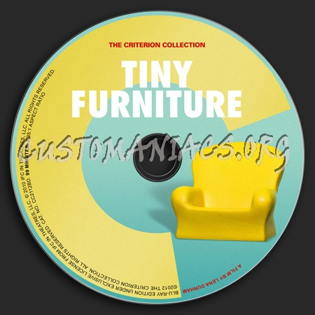 597 - Tiny Furniture dvd label