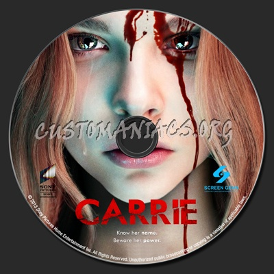Carrie dvd label